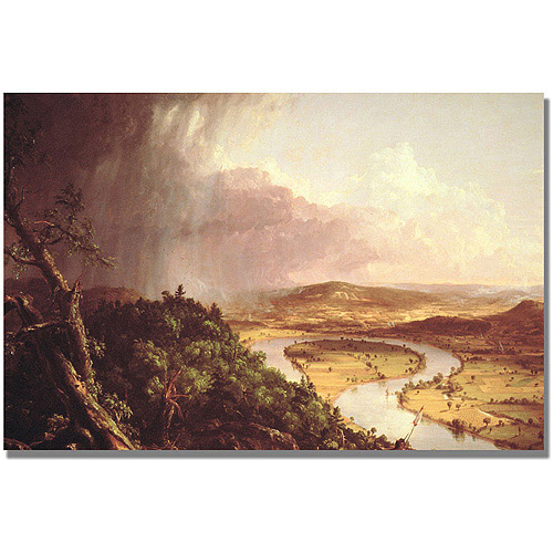 """Trademark Fine Art """"The Oxbow"""" Canvas Art by Thomas Cole"""