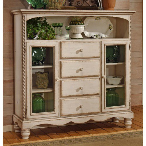 Hillsdale Wilshire Bakers Cabinet - Antique White - Hillsdale Wilshire Bakers Cabinet - Antique White - Walmart.com