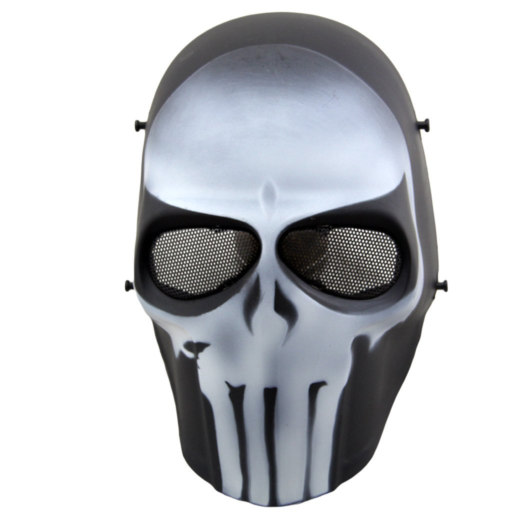 OUTGEEK Airsoft Mask Full Face Protective Mesh Mask Skull Mask for Costume by Outgeek