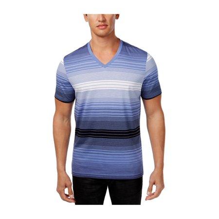 cd1a381c5ebd I-N-C Mens Striped Basic T-Shirt hydrangea 3XL - image 1 of 1 ...