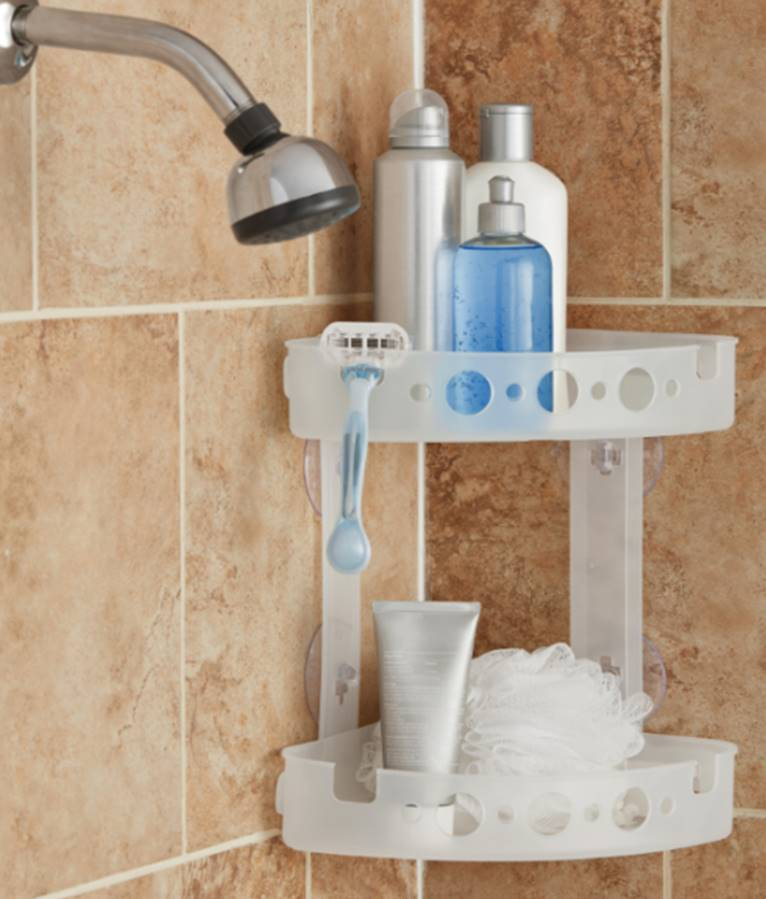 Mainstays Corner Shower Caddy, Frosted by Zenith Products
