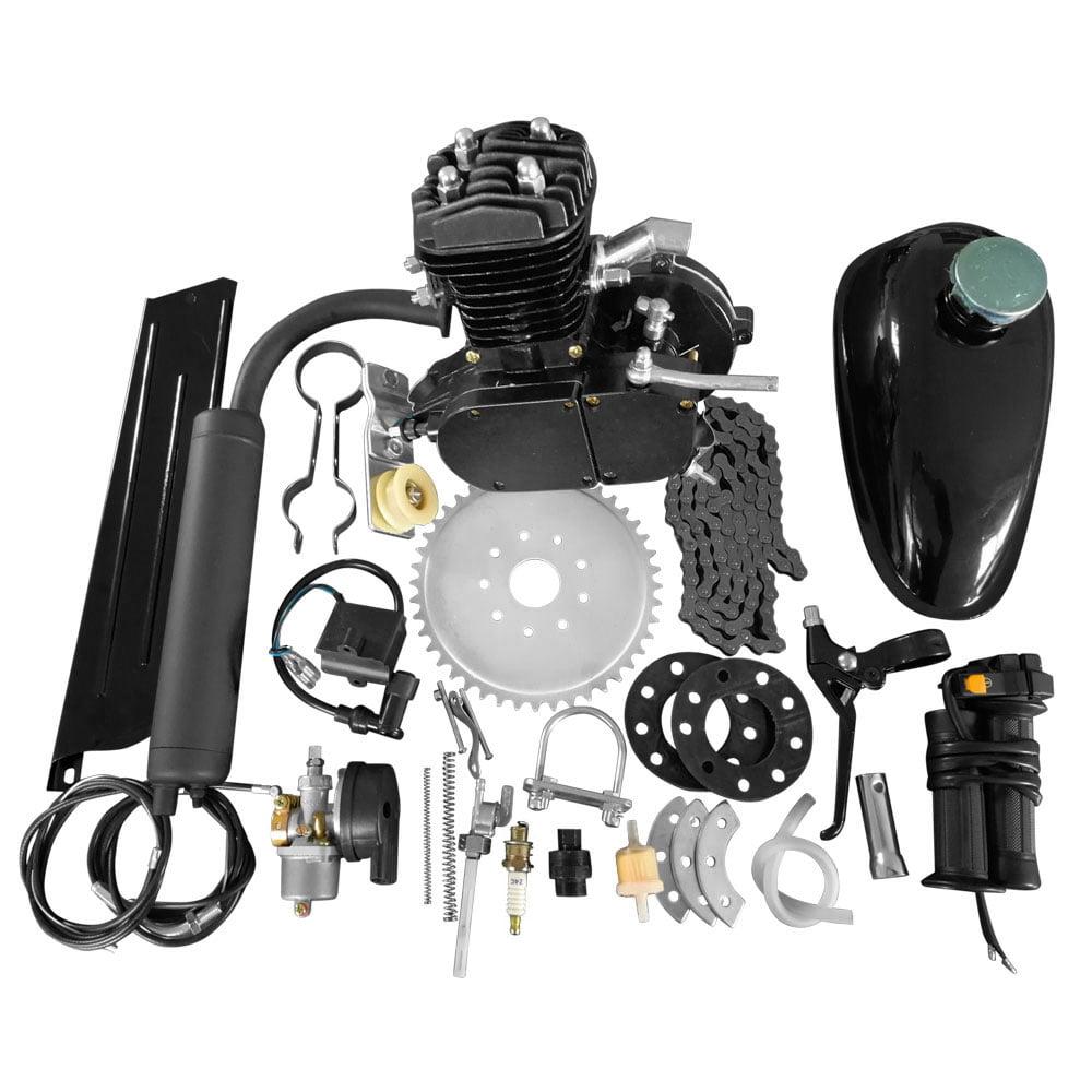 Ktaxon 80cc Bike Bicycle Motorized 2 Stroke Petrol Gas Motor Engine Kit Set Black