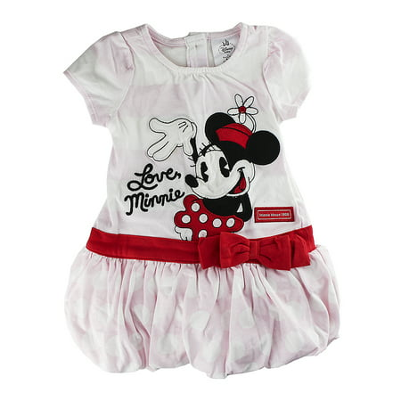 "Disney Store Baby Girls Minnie Mouse ""Love Minnie"" Knit Dress, Pink"