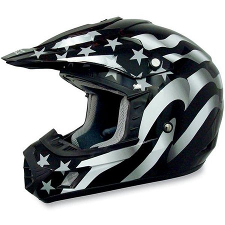 AFX FX-17 Flag MX Offroad Helmet Freedom (Afx Helmet Chin Vent)