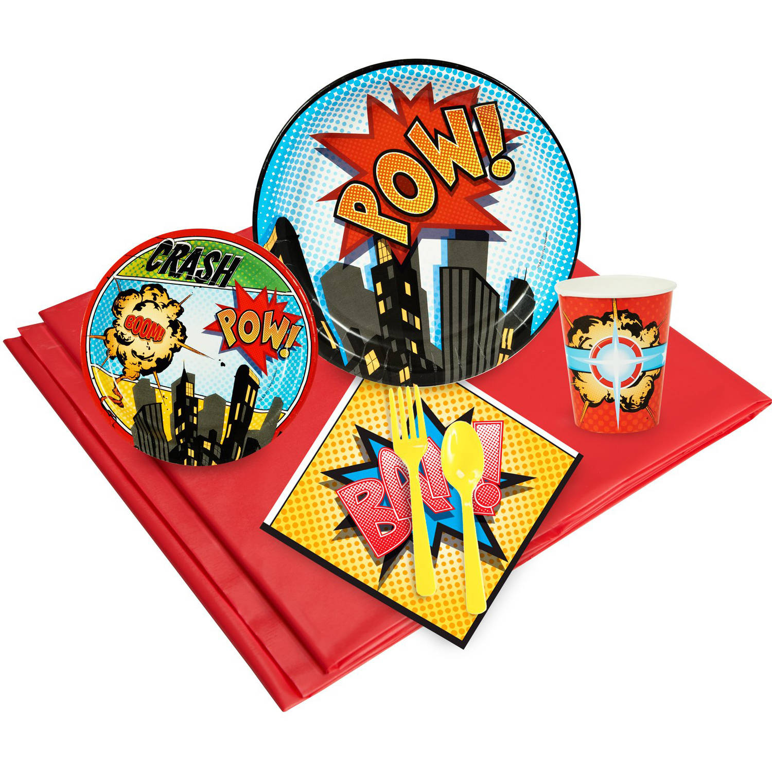 Superhero Comics Party Pack for 16