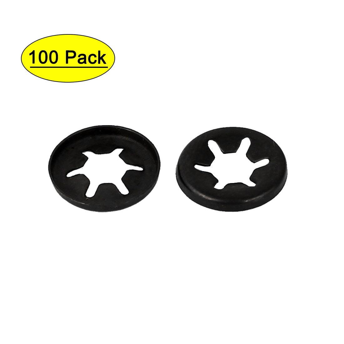 Star Nut Metal Push On Locking Washer Clips Fastener 20X2mm,3mm,4mm,5mm80PCE