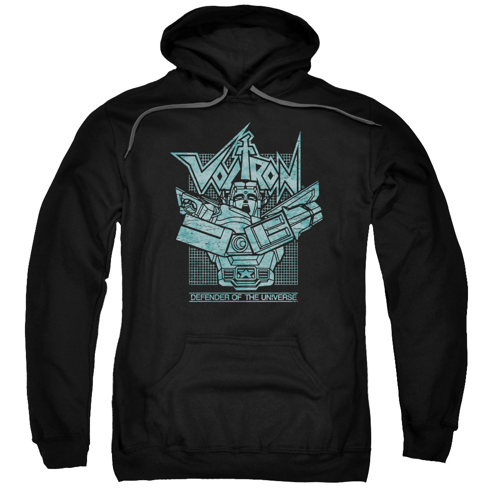 Voltron/Defender Rough Adult Pull Over Hoodie Black  Drm258