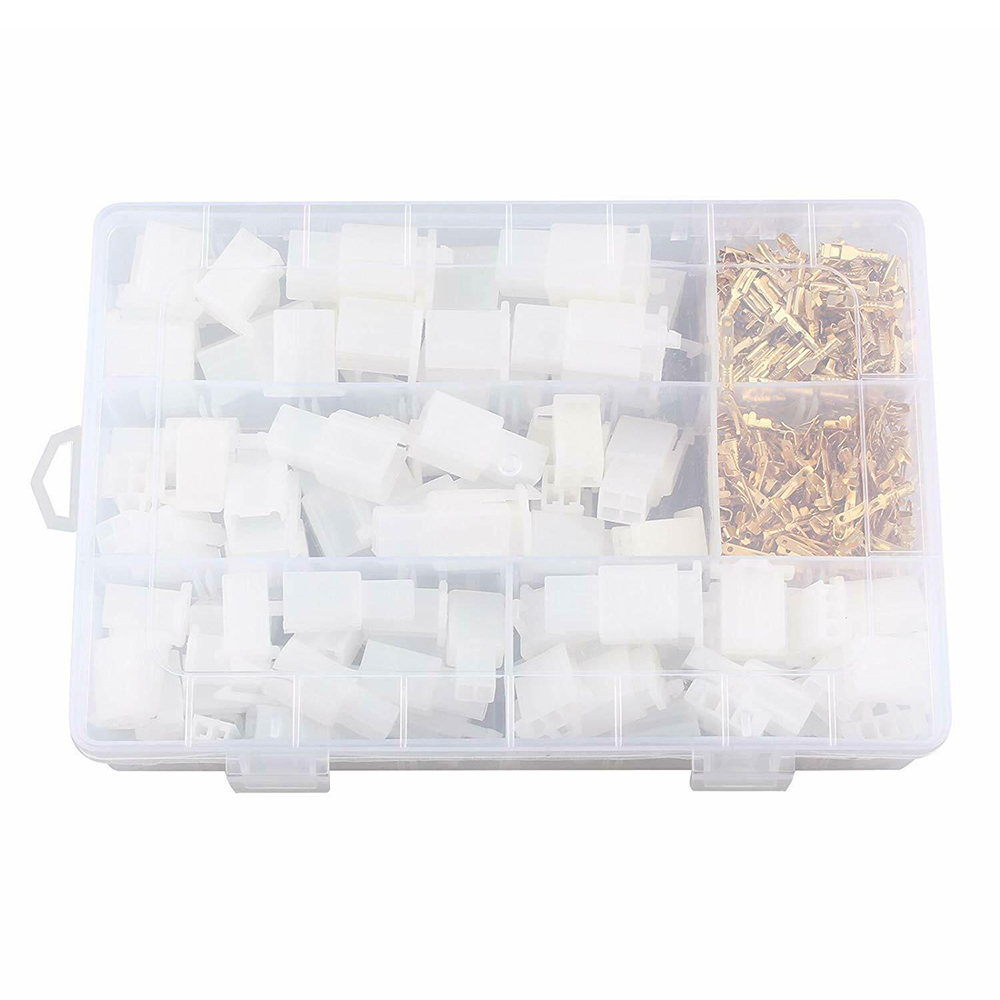 380Pcs Motorcycle Car Electrical Auto Connectors Terminal 2.8mm 2//3//4//6 Pin Wire