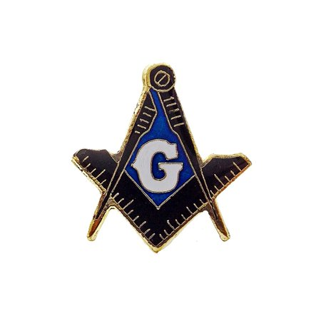 Square Lapel Pin (Mason Masonic Square & Compass Freemason Shriners Lapel Hat Pin PPM251)