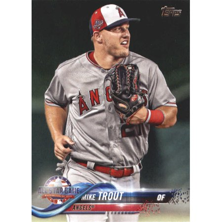 2018 Topps Update Us176 Mike Trout Los Angeles Angels Baseball Card