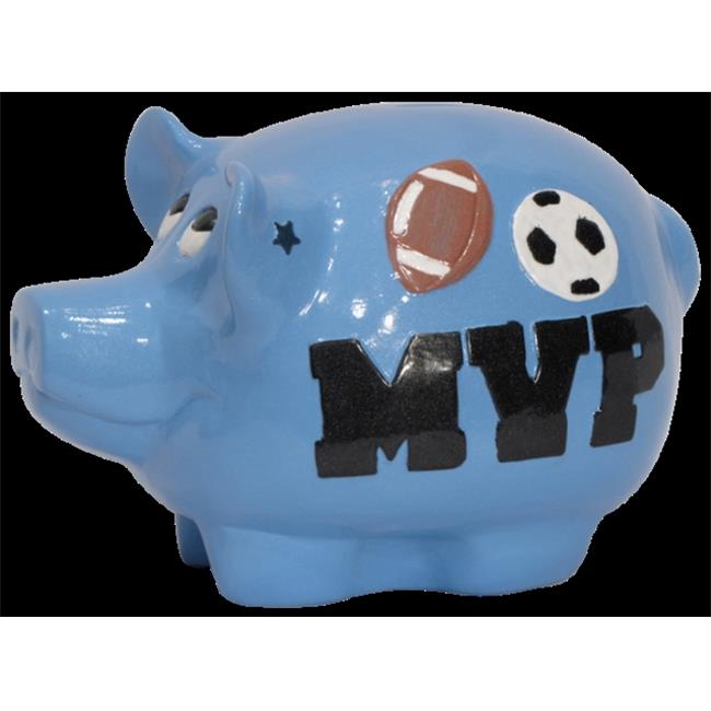 Metrotex Designs 66100 All Sports Piggy Bank With Removable Bottom Stopper