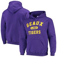LSU Tigers Geaux Tigers Arch Pullover Hoodie - Purple