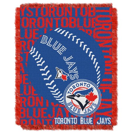 Toronto Blue Jays MLB Triple Woven Jacquard Throw (Double Play) (48