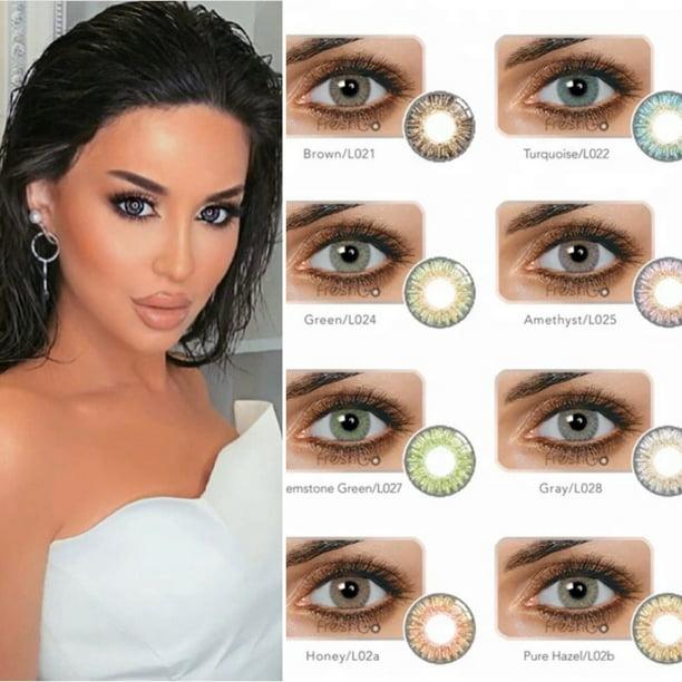 4 PACK! Color Eye Lenses Includes Colored Makeup Lens Colors LAST 1 YEAR ! - Walmart.com - Walmart.com
