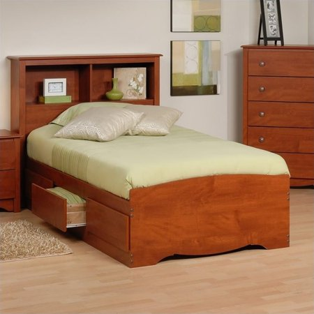 Prepac Monterey Twin Platform Storage Bed With Headboard