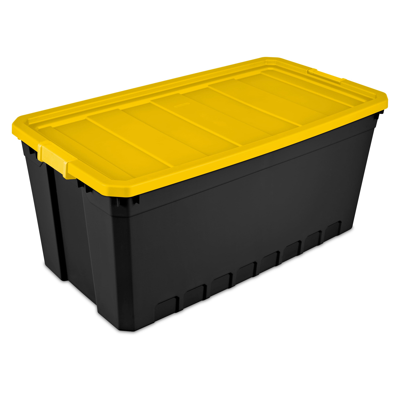 Sterilite 50 Gallon Yellow Industrial Tote, 2 Piece