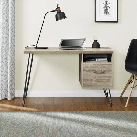 Altra Landon Desk, Sonoma Oak/Gunmetal Gray (Altra Owen Retro Desk Sonoma Oak Gunmetal Gray)