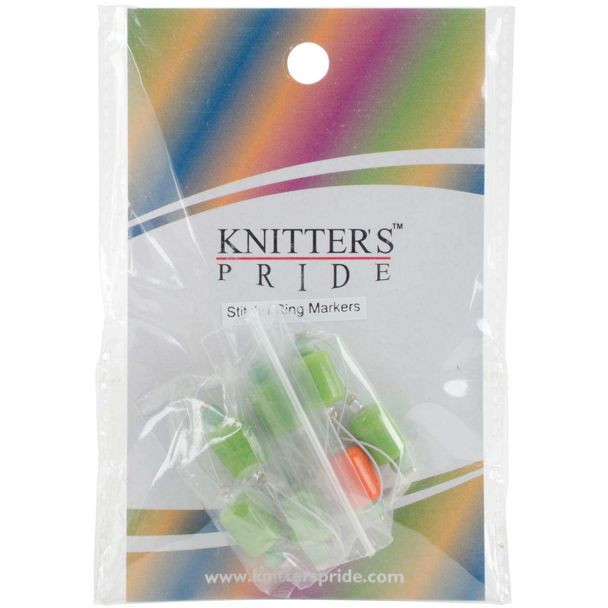 Zooni Stitch Markers W/Colored Beads 7/Pkg-Holly
