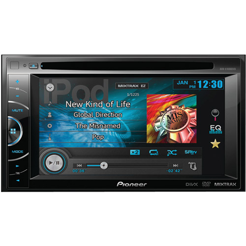 """Pioneer AVH-X1600DVD 6.1"""" Double-DIN DVD Receiver with AppRadio and MIXTRAX"""