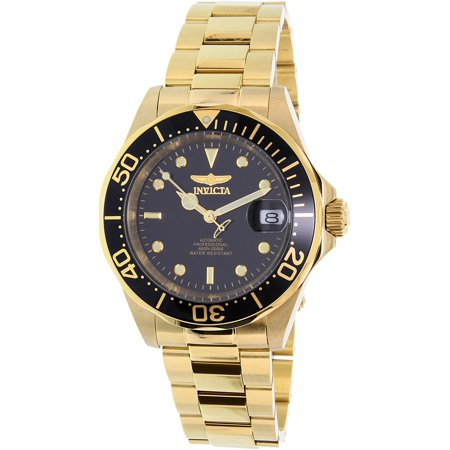Mens Automatic Dive Watch (Men's Men Automatic Pro Diver G3 8929 Gold Stainless-Steel Automatic Diving Watch)