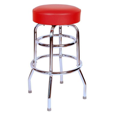 1950s Style Bar Stool - Richardson Seating Floridian 30 in. Backless Swivel Bar Stool