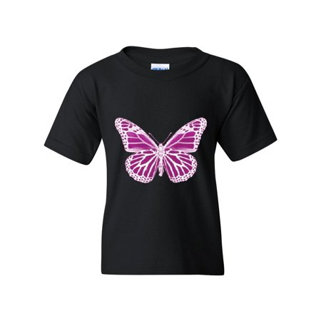 Purple Butterfly Matching Couples Gift For Birthday Christmas Party Unisex Youth Kids T Shirt Tee Clothing
