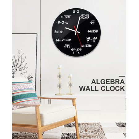 2019 NEW Unique Math Wall Clock DIY Creative Matte Metal Formula Algebra Wall Clock For Bedroom Living Room Office Home Decoration