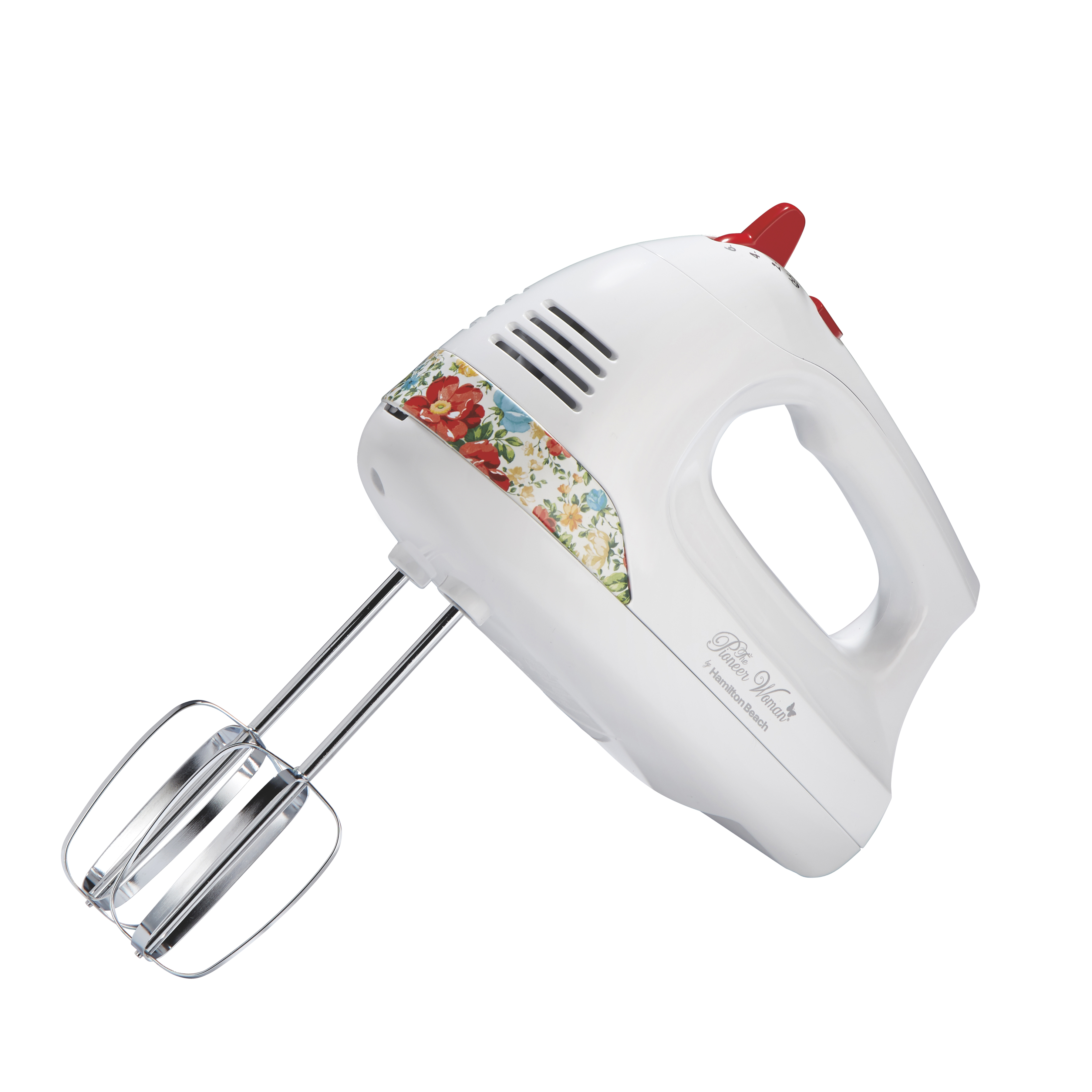 The Pioneer Woman Hand Mixer with Vintage Floral Snap-On Case