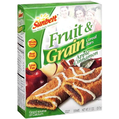 Sunbelt: Fruit & Grain Cereal Bars, 8 Ct