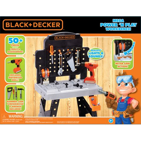 Black Amp Decker Exclusive Power N Play Workbench Walmart Com