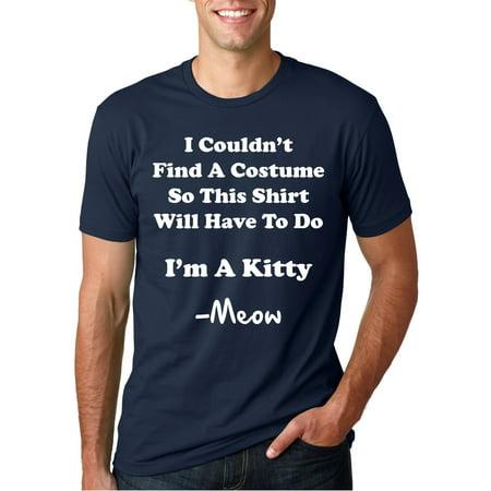 Crazy Dog T-shirts I'm A Kitty Meow Halloween Costume T Shirt Funny Cat Shirt (I Funny Halloween)