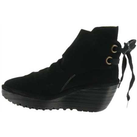 FLY London Suede Wedge Boots Yama A283899 (Fly Boots)