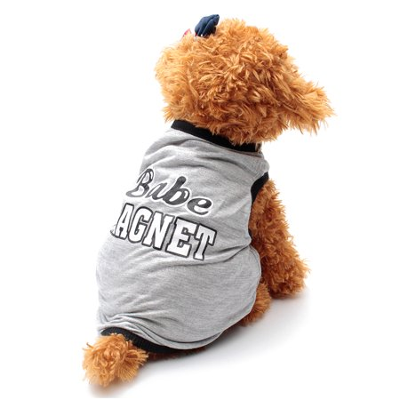 S M L Small Dog Clothing Pet Puppy Summer Shirt Cotton Vest Clothes Clothing Costume (Small Dog Costume Ideas)