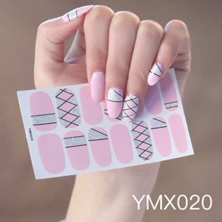 Comaie All-finger Sticker Korean Version Waterproof Durable Child Nail Sticker Environmental Nail Sticker Water Transfers Stickers Colorful Designs Decal DIY Nail Art Foil Tips Stencil - image 1 of 1