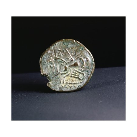 Celtic coin made by the Curiosolites of Armorica, Brittany, France, first half of 1st century BC Print Wall Art By Werner Forman