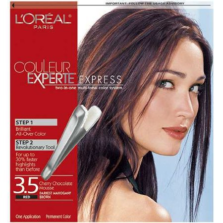 l 39 oreal paris couleur experte express easy 2 in 1 color highlights darkest mahogany brown. Black Bedroom Furniture Sets. Home Design Ideas