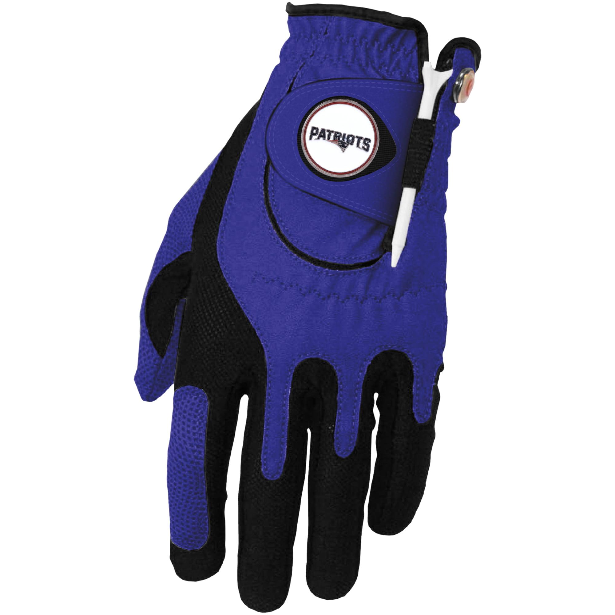 New England Patriots Left Hand Golf Glove & Ball Marker Set - Blue - OSFM