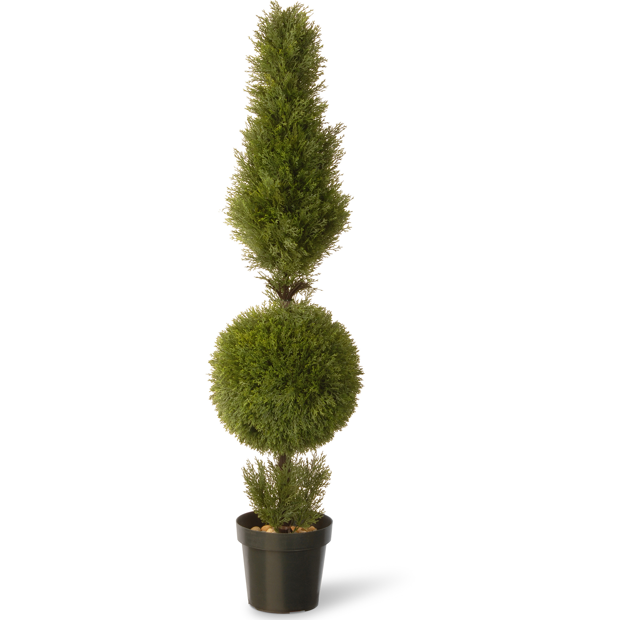 "National Tree 60"" Juniper Cone and Ball with Green Pot"