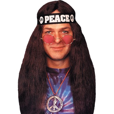 Womens Classic Hippie Costume Theatre Costumes 60s 70s Flower Power Love Child Sizes: One Size