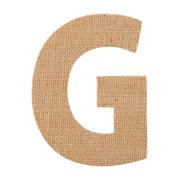 On the Surface Burlap Letter G, 1 Each