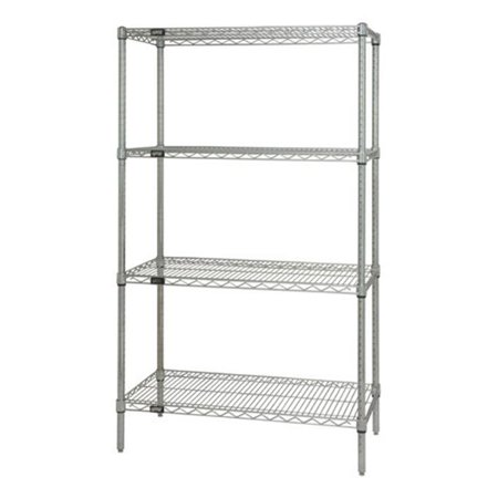 4-Shelf Stainless Steel Wire Shelving Unit, 36 x 36 x 54 in. - image 1 de 1
