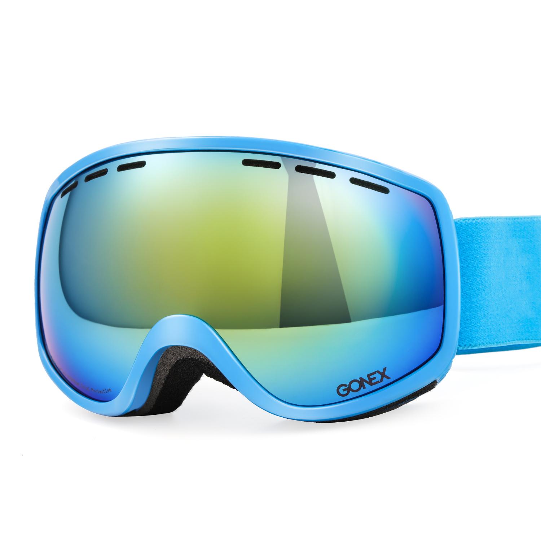 Kids Ski Goggles, Gonex Anti Fog 100% UV Protection Snow Goggles for Boys & Girls Children Toddler with Case