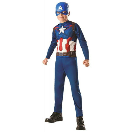 Captain America Child Costume - Small - Captain America Halloween Costume For Kids