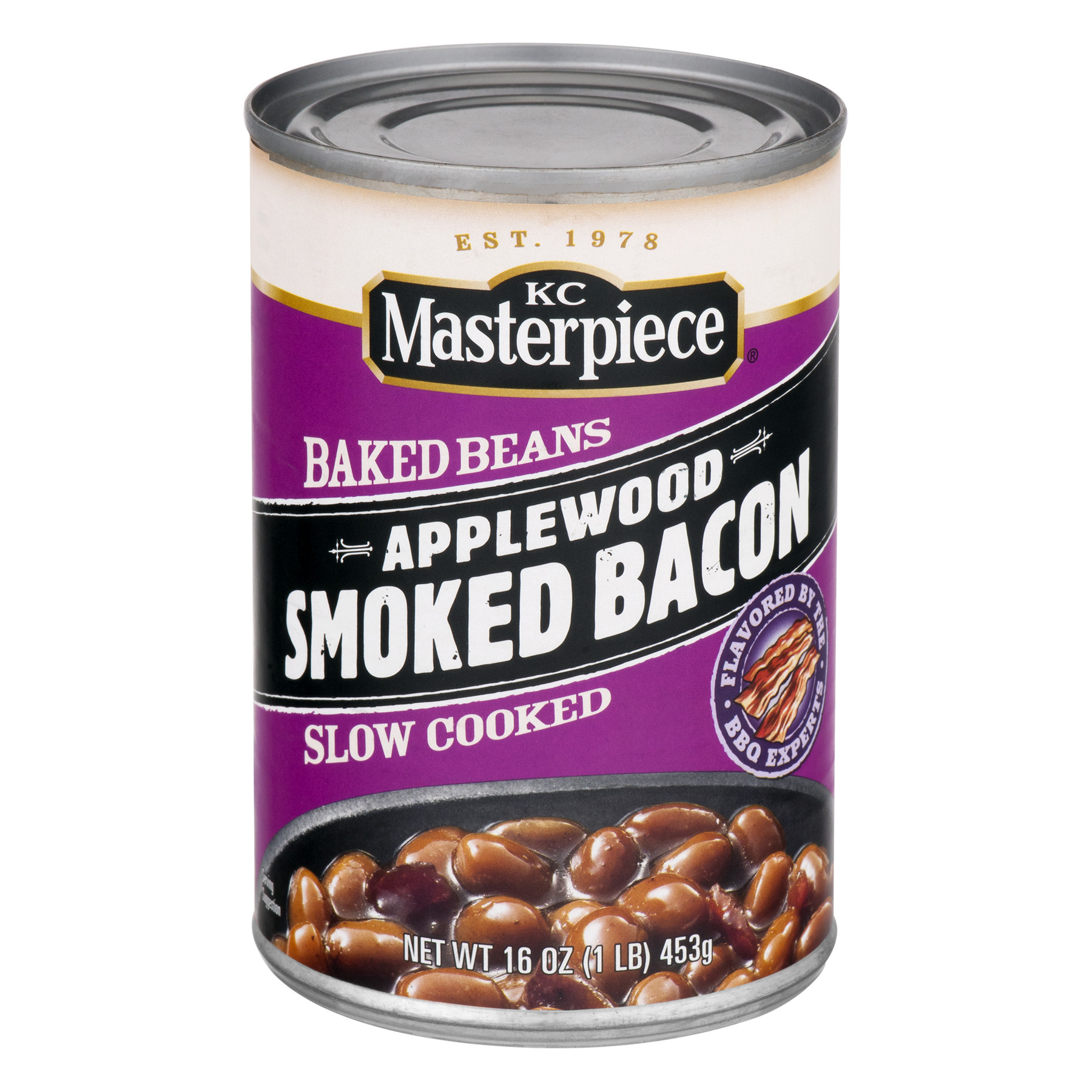 KC Masterpiece Baked Beans Applewood Smoked Bacon, 16.0 OZ