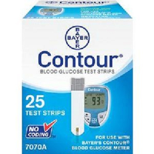 Bayer Contour Blood Glucose Test Strip (25 count)-Box of 25