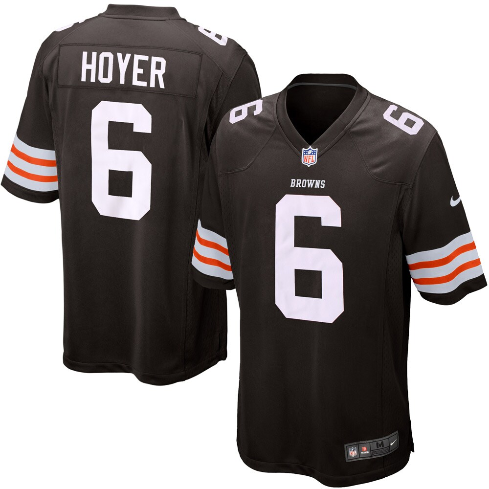Brian Hoyer Cleveland Browns Historic logo Nike Youth Game Jersey - Brown
