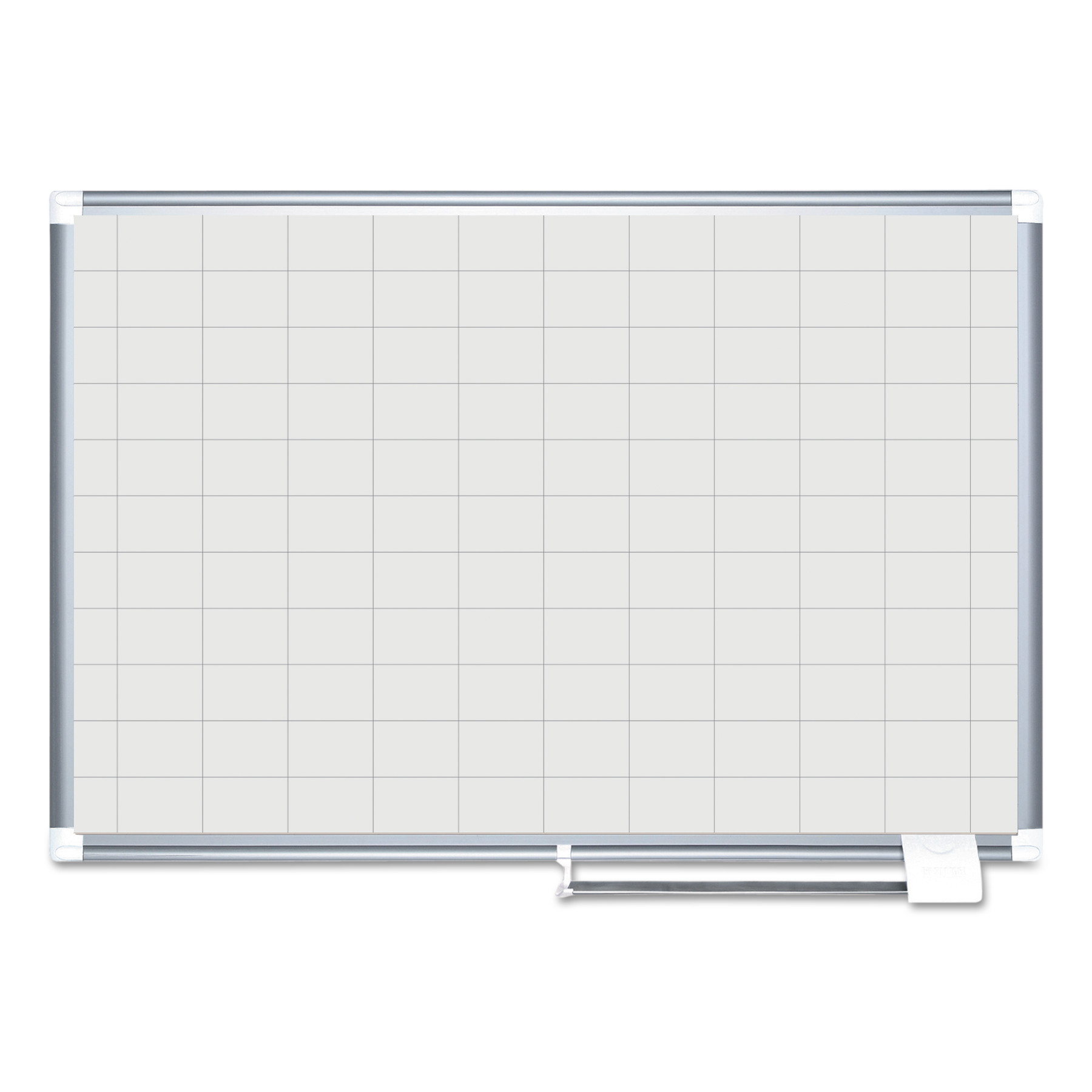 "MasterVision Grid Planning Board, 48x36, 2x3"" Grid, White Silver by BI-SILQUE VISUAL COMMUNICATION PRODUCTS INC"