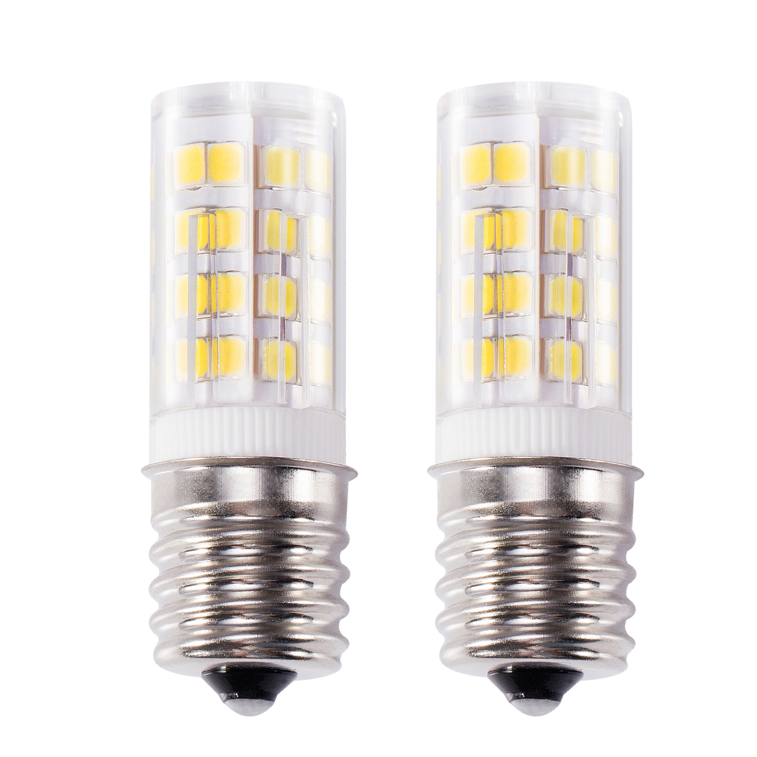 2x Kohree E17 LED Bulb Microwave Oven Light Stove Bulb Light 4W Daylight White Non-dimmable 6000K 52X2835SMD AC110-130V