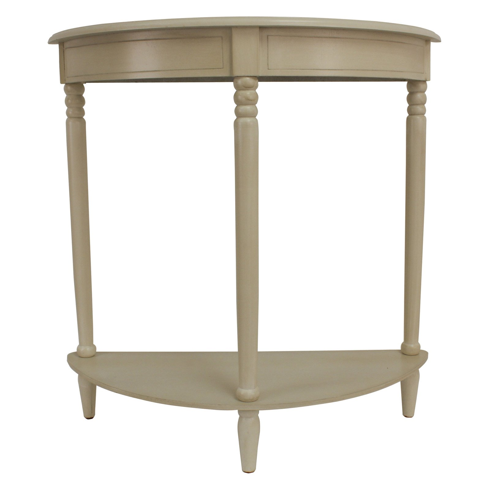 Antique White Simplicity Half Round Accent Table by Jimco Lamp