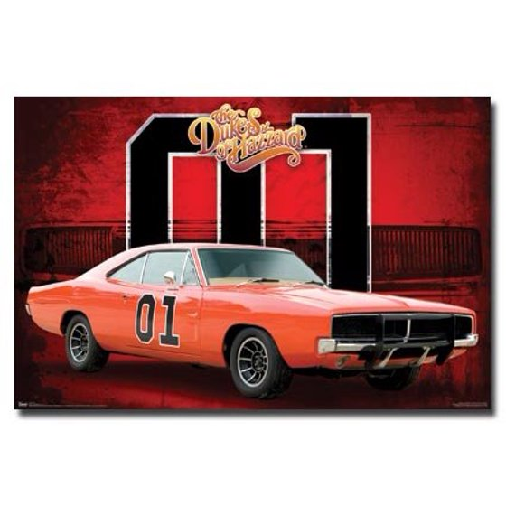 The Dukes Of Hazzard Poster General Lee